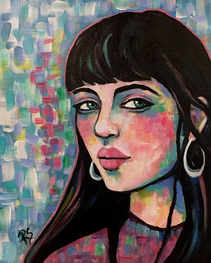 """Portrait of Emilia"" original fine art by Roberta Schmidt ArtcyLucy"