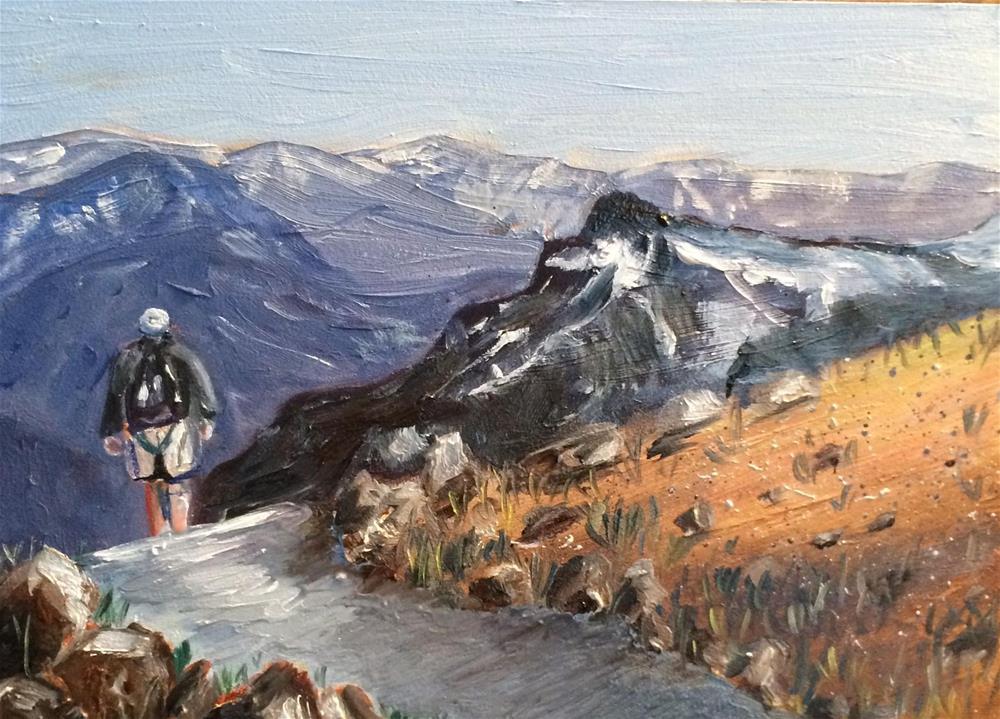"""Go Take A Hike"" original fine art by Kim Clay"