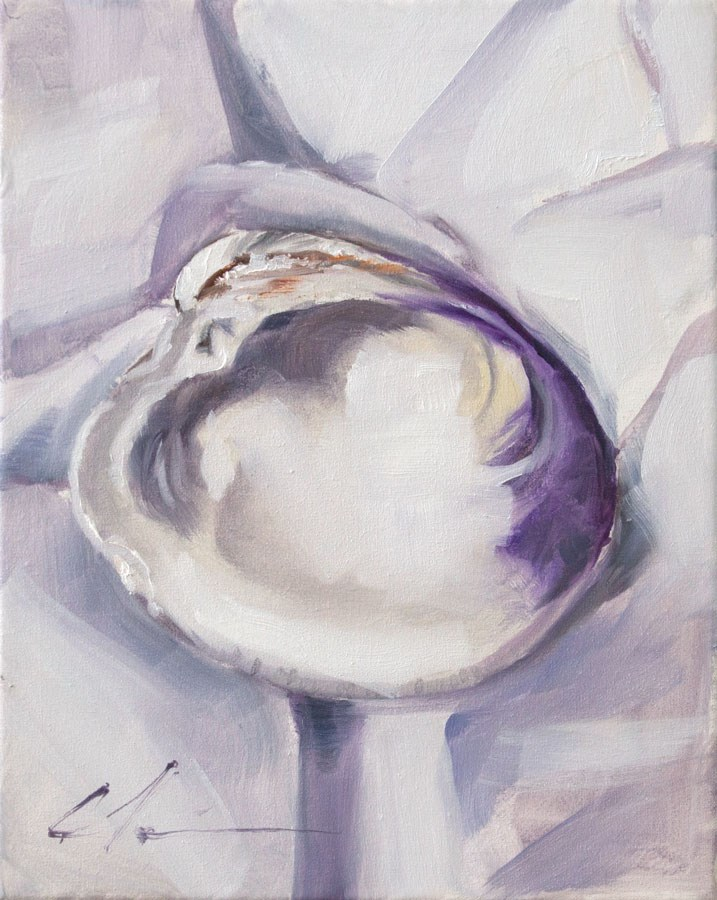 """Clamshell"" original fine art by Clair Hartmann"