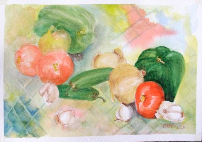 """Let's Cook"" original fine art by Lynn Darby"
