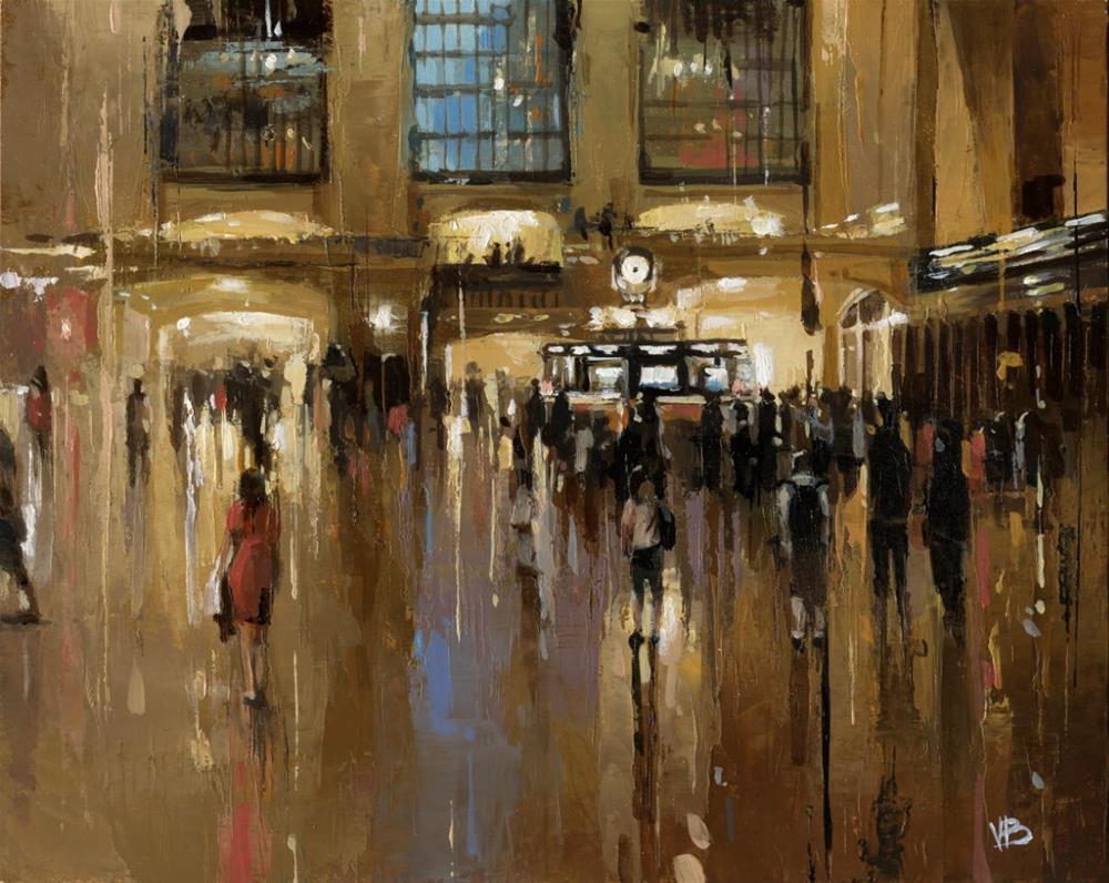 """Grand Central -II"" original fine art by Victor Bauer"