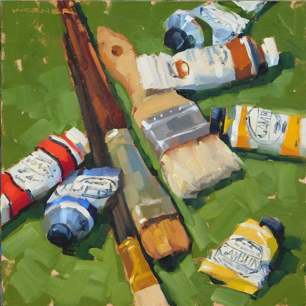 """Painting Again"" original fine art by Karen Werner"