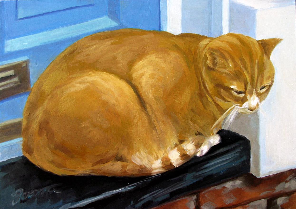 """Downtown Cat"" original fine art by Joanna Bingham"