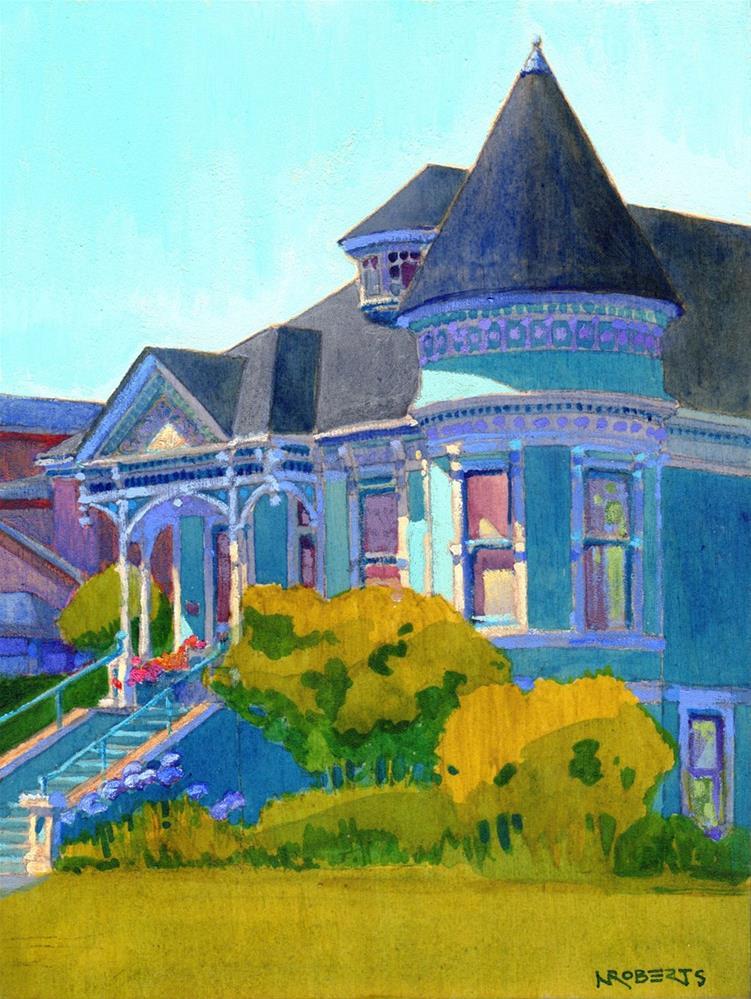 """Turquoise Victorian"" original fine art by Nancy Roberts"