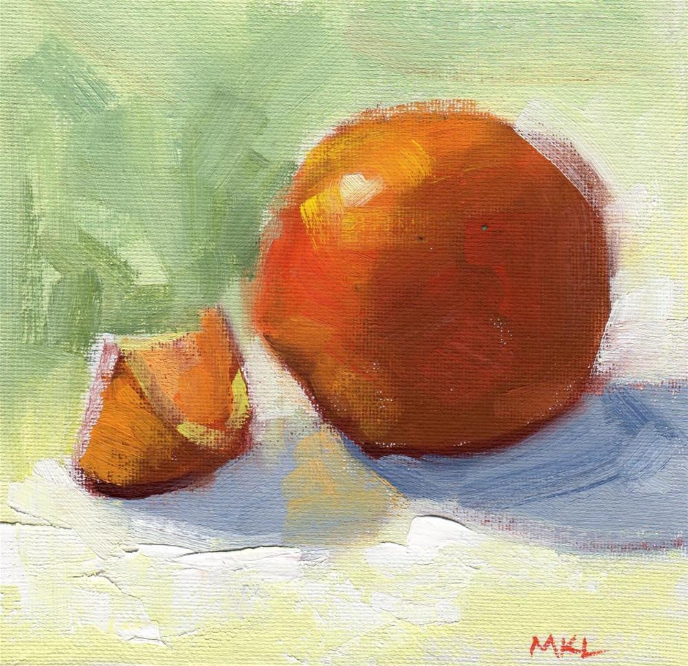 """""""Sliced Orange"""" original fine art by Marlene Lee"""