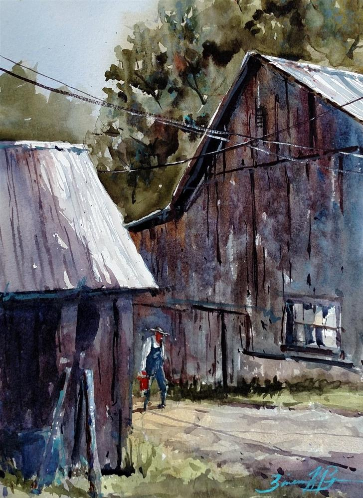 """Lori's Barn"" original fine art by Brienne M Brown"