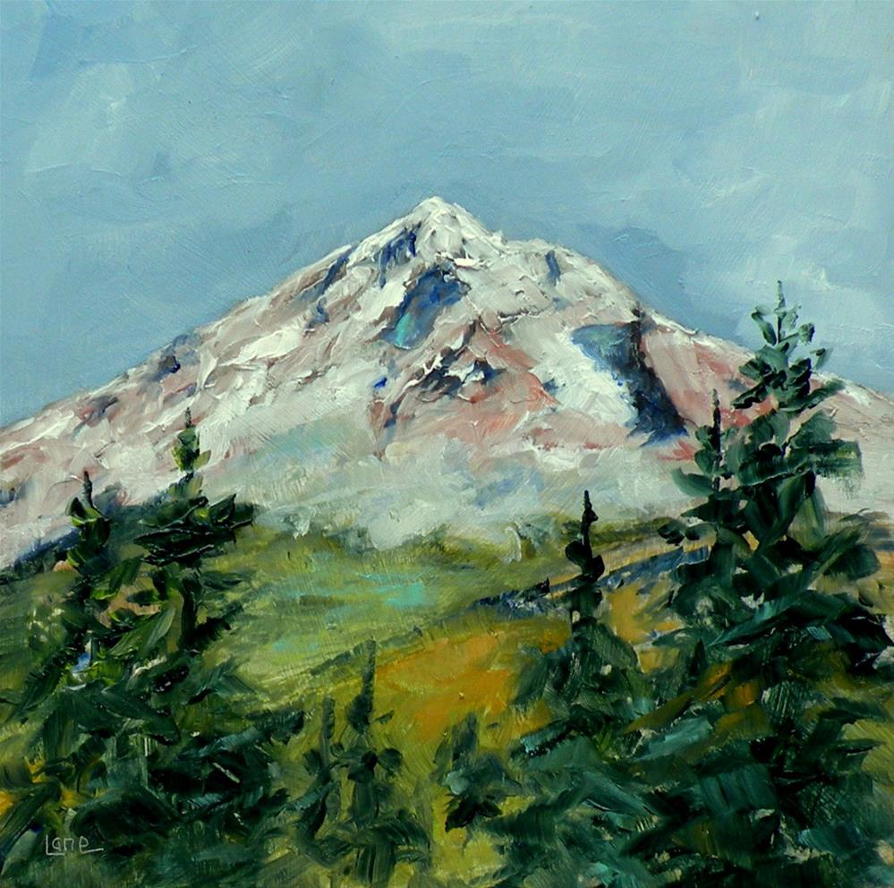 """MT. HOOD GIVE AWAY FOR NEWSLETTER CONTEST © SAUNDRA LANE FINE ART"" original fine art by Saundra Lane Galloway"