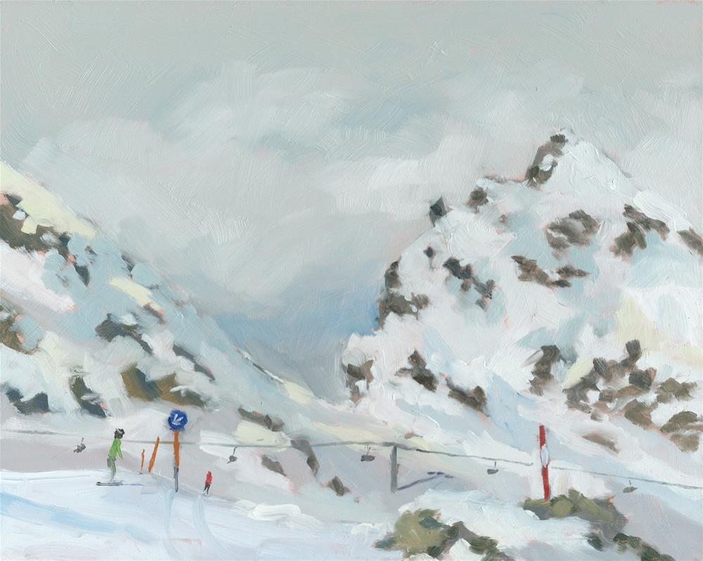 """From the Alpine Centre, Kitzsteinhorn"" original fine art by Graham Townsend"