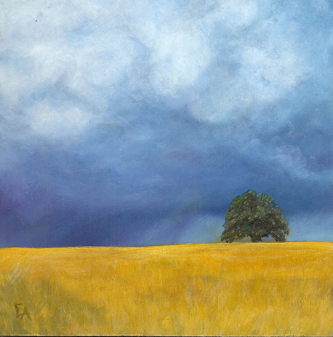 """Tree in the Storm"" original fine art by Elizabeth Elgin"