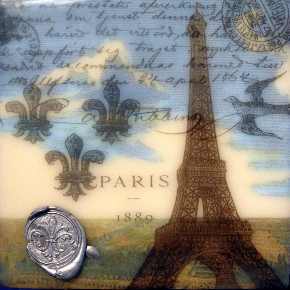 """""""La Belle Tour"""" original fine art by Danielle M. Le  Bris"""