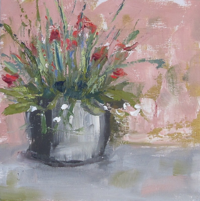 """Flowers in the park"" original fine art by Helen Moreda"