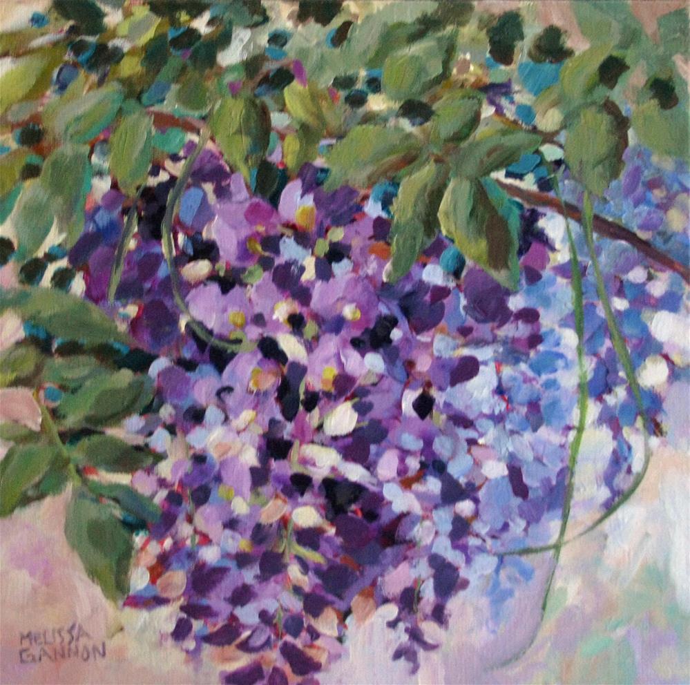 """Spring Wisteria"" original fine art by Melissa Gannon"