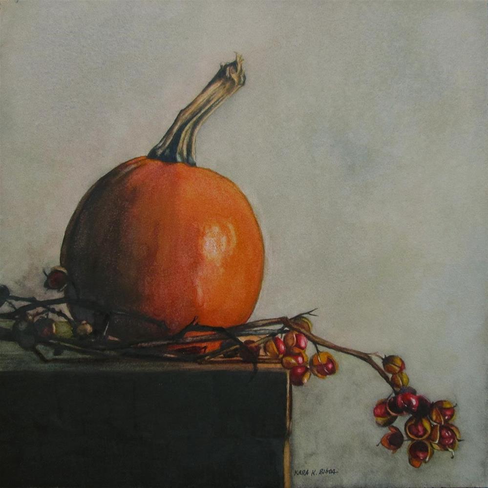 """Sugar Pumpkin"" original fine art by Kara K. Bigda"