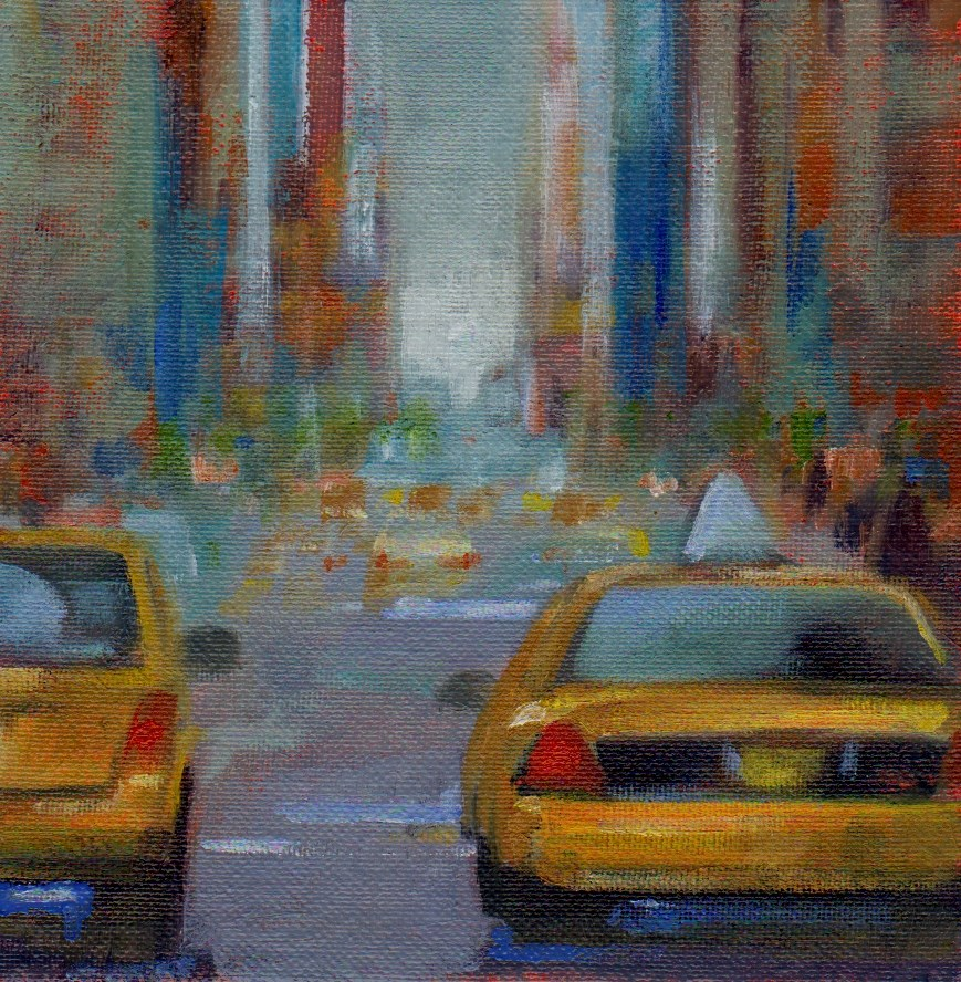 """NYC"" original fine art by Mark DeBak"