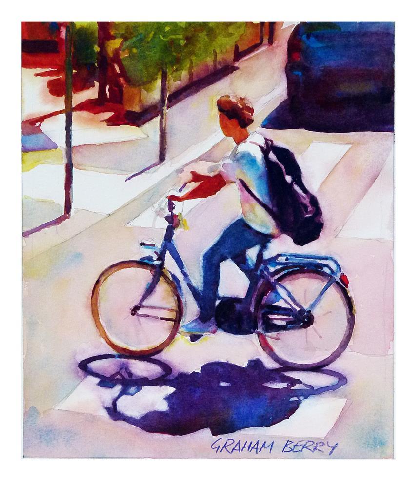 """""""Cycling home."""" original fine art by Graham Berry"""