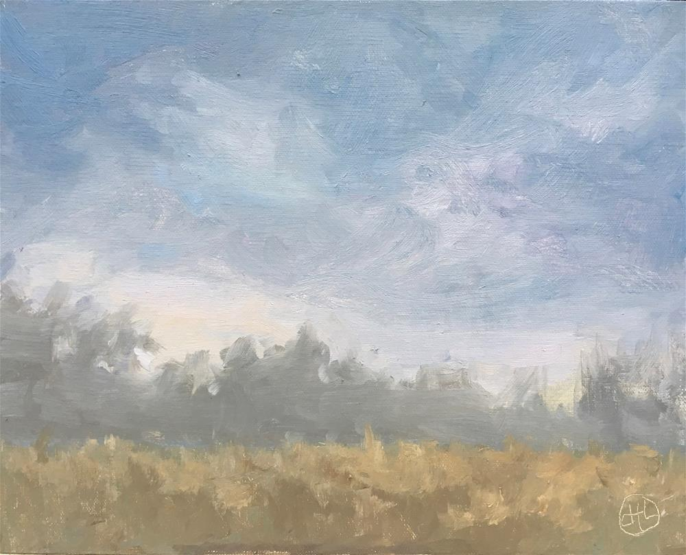 """dawning dark and stormy"" original fine art by Dottie  T  Leatherwood"