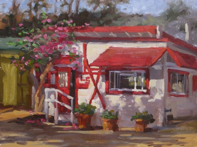 """L-5 Cottage At Crystal Cove"" original fine art by Karen Werner"
