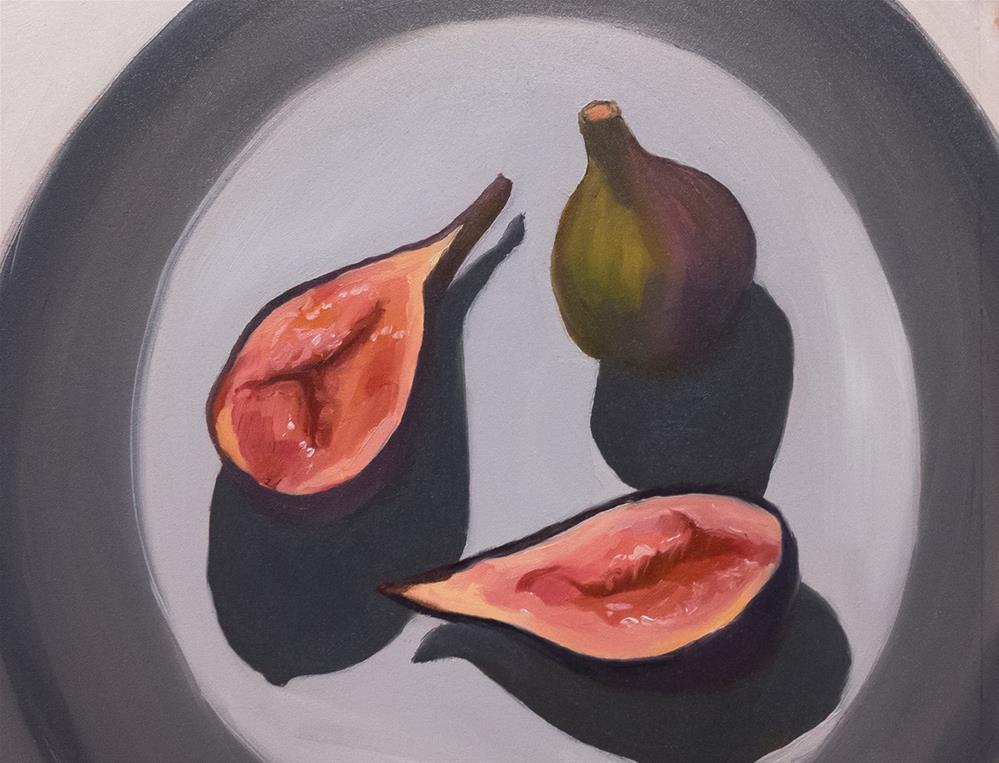 """Figs on a Grey Plate"" original fine art by Jana Bouc"