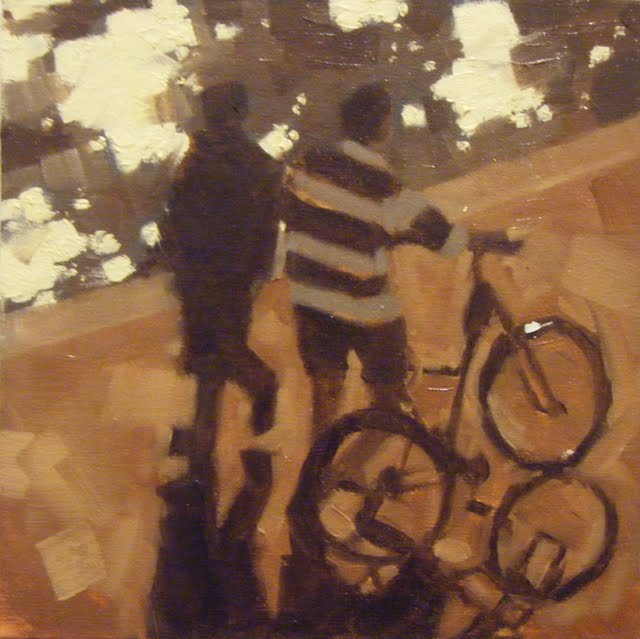 """""""STROLL'N THE SEINE, PARIS"""" original fine art by Helen Cooper"""