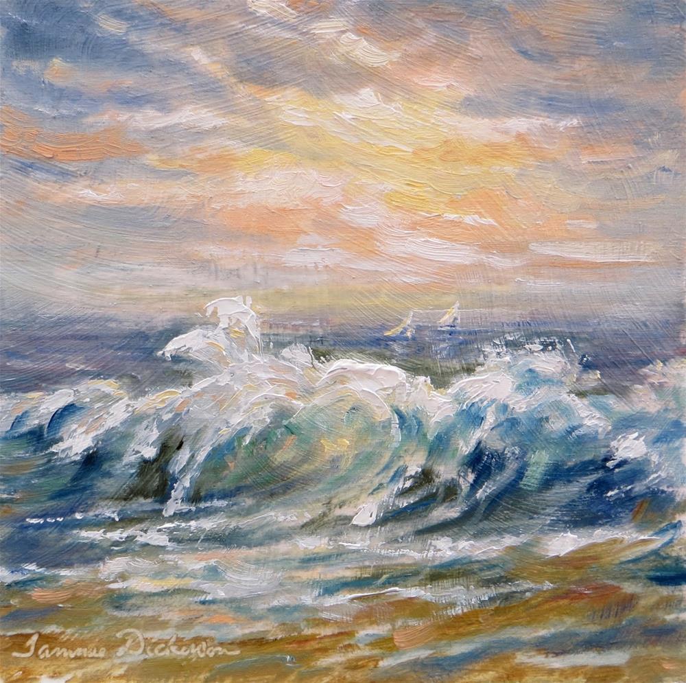 """Crashing Wave"" original fine art by Tammie Dickerson"