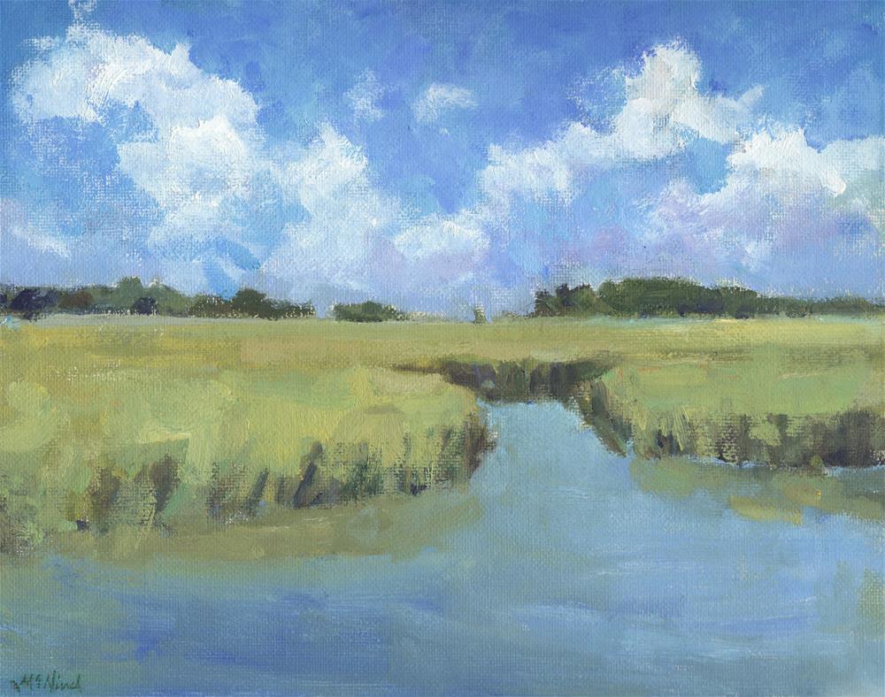 """""""Plein Air Marsh"""" original fine art by Michel McNinch"""