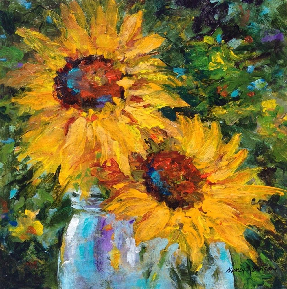 """Sunflowers "" original fine art by Nancy F. Morgan"