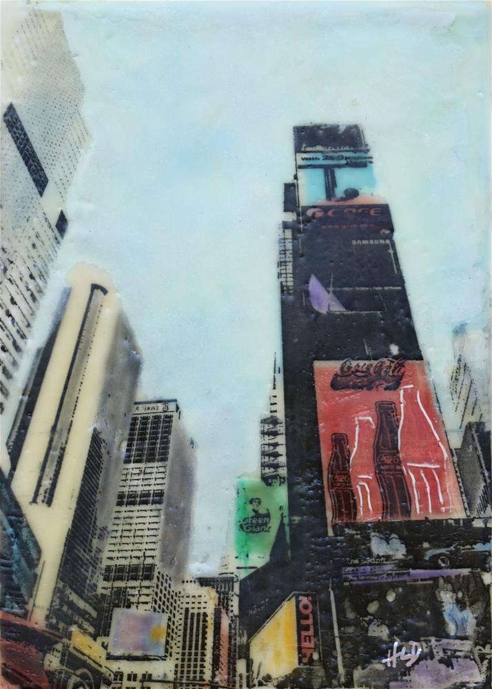 """Times Square"" original fine art by Heather Douglas"