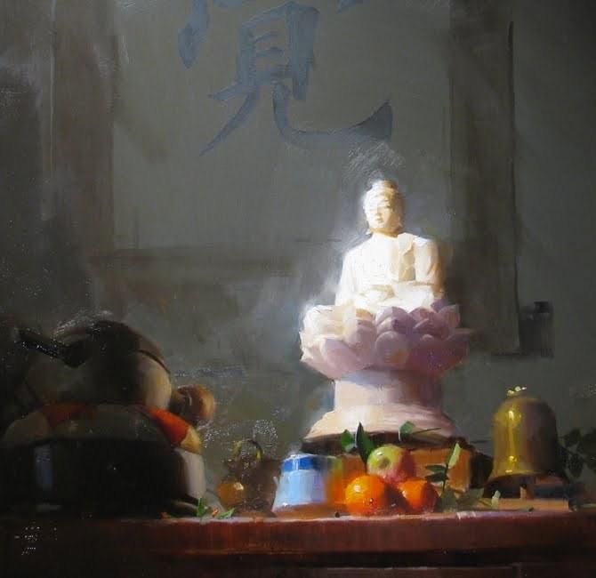 """Awakening (Partial)"" original fine art by Qiang Huang"