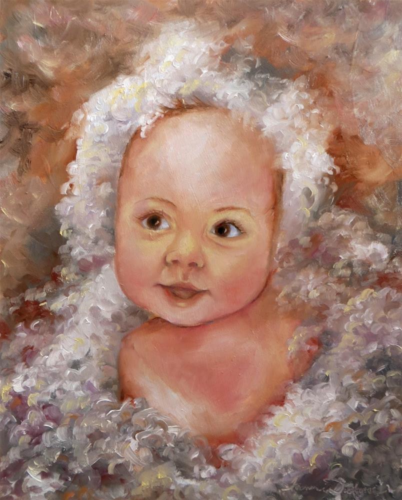 """Bubble Baby"" original fine art by Tammie Dickerson"