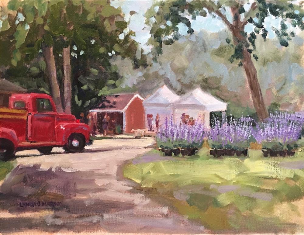"""A July Day on the Farm, Lavender Fields"" original fine art by Linda Marino"