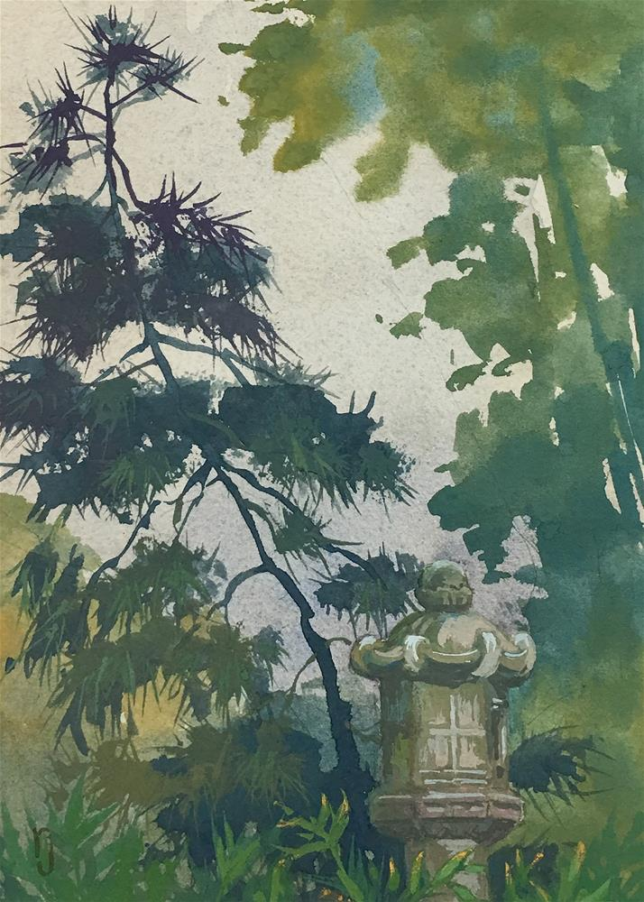 """Pagoda Pine"" original fine art by Robyn Jorde"