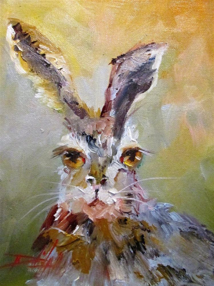 """Rabbit"" original fine art by Delilah Smith"