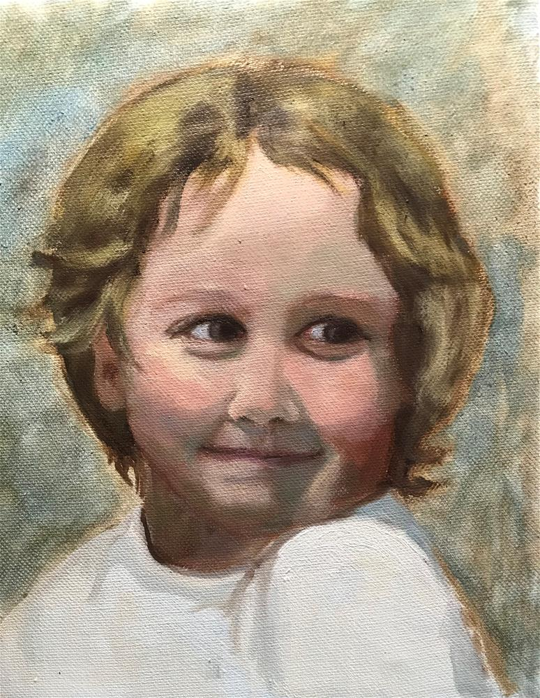 """happy little girl"" original fine art by Betty Argiros"