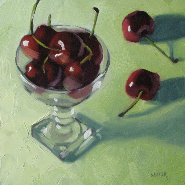 """""""My cup runneth over  6x6  oilo"""" original fine art by Claudia Hammer"""