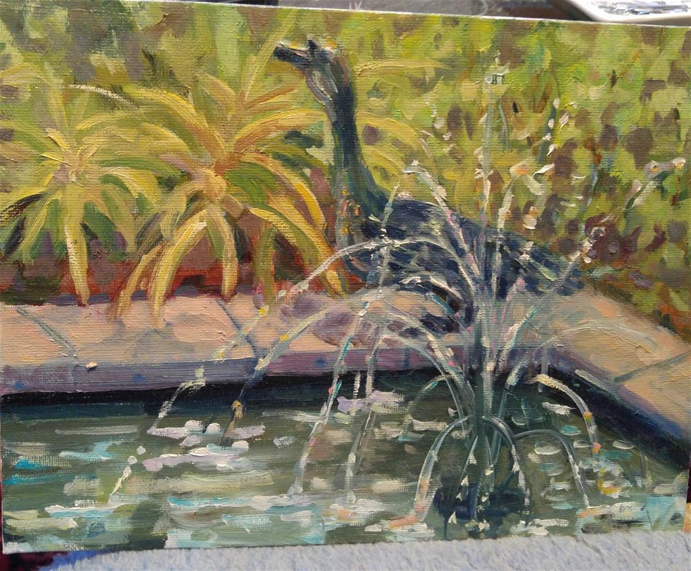 """Weadley Fountain"" original fine art by angela scully"