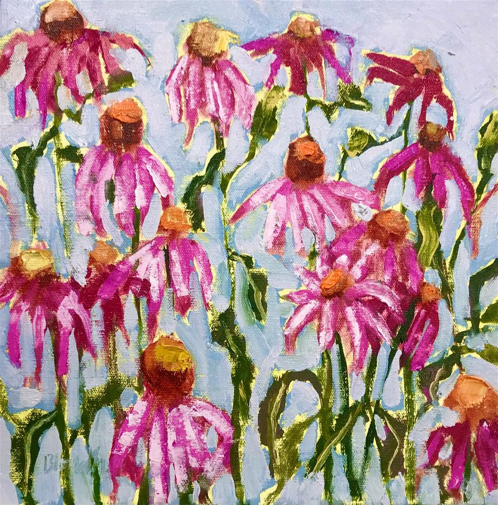 """Cone Flowers Study"" original fine art by Linda Blondheim"