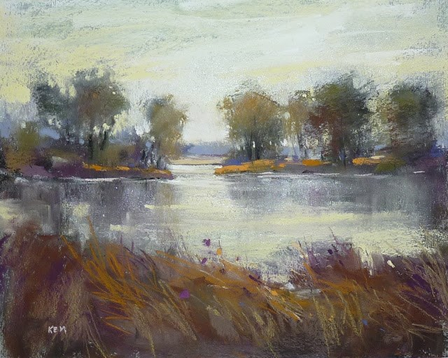 """Exploring Pastels without Color"" original fine art by Karen Margulis"