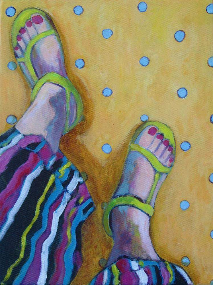 """Looking Down"" original fine art by Patricia MacDonald"