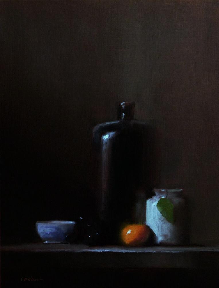 """""""Arrangement with Bottle"""" original fine art by Neil Carroll"""
