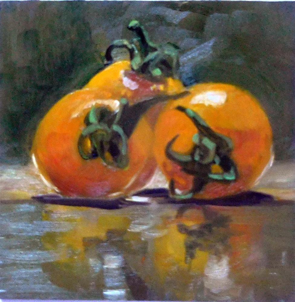 """Yellow Cherry Tomatoes"" original fine art by Cietha Wilson"