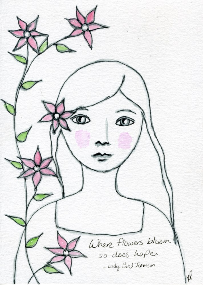 """Where flowers bloom so does hope..."" original fine art by Kali Parsons"