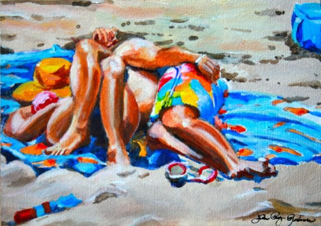 """Beach Daze Doze"" original fine art by JoAnne Perez Robinson"