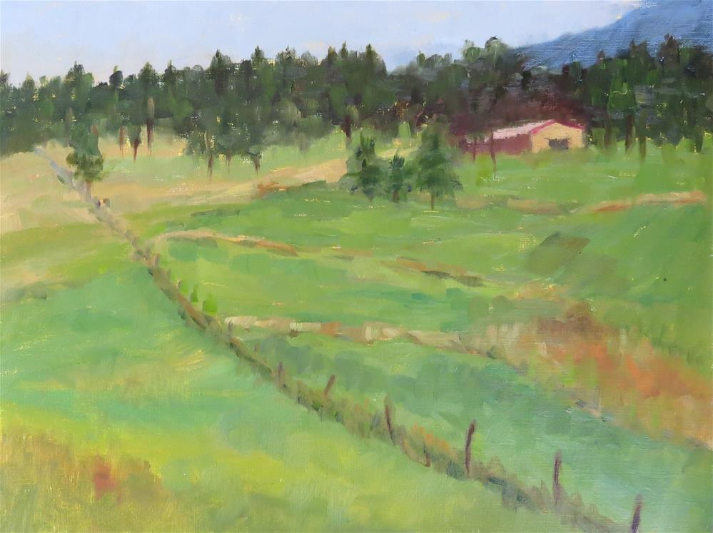"""Nearby Ranch"" original fine art by Pam Holnback"