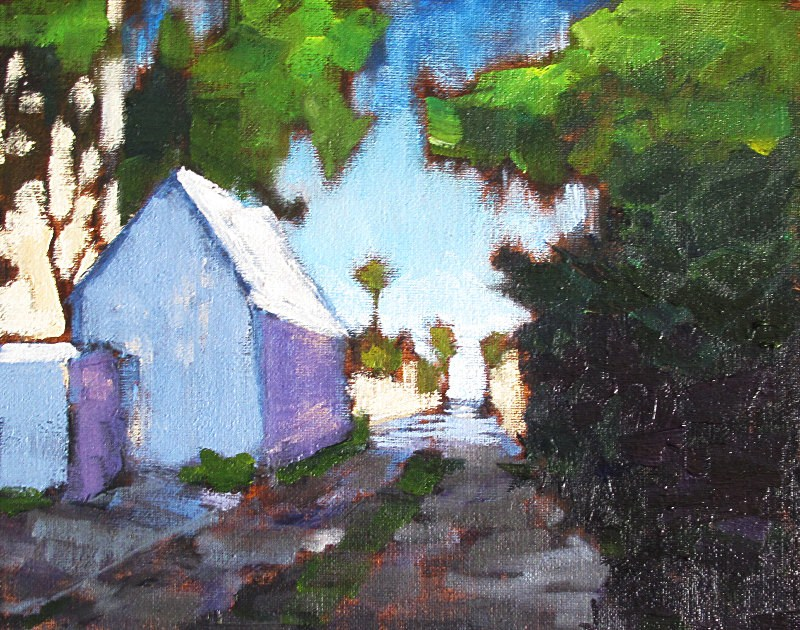 """July in the Alley"" original fine art by Kevin Inman"