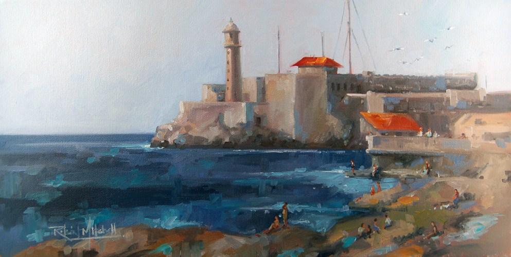 """No 477 Havana Harbour"" original fine art by Robin J Mitchell"