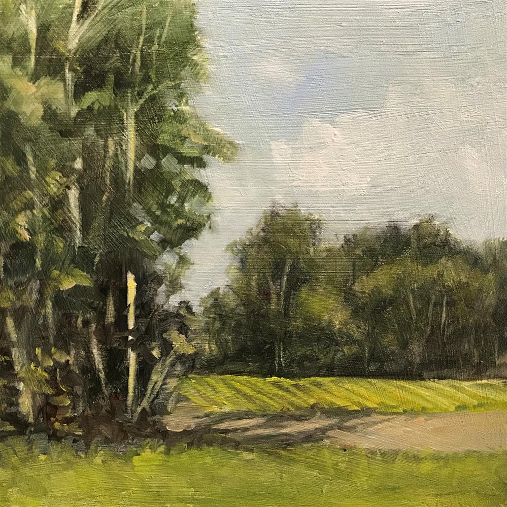 """field in South Londonderry, Vt."" original fine art by Betty Argiros"