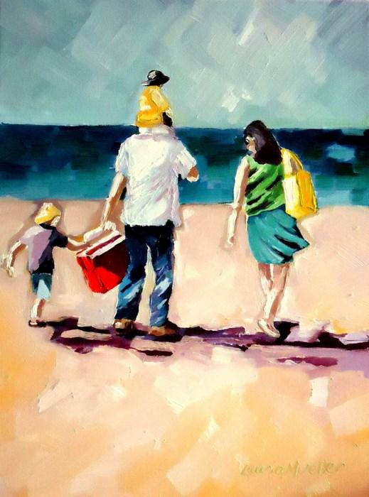 """Beach Day"" original fine art by Laurie Mueller"