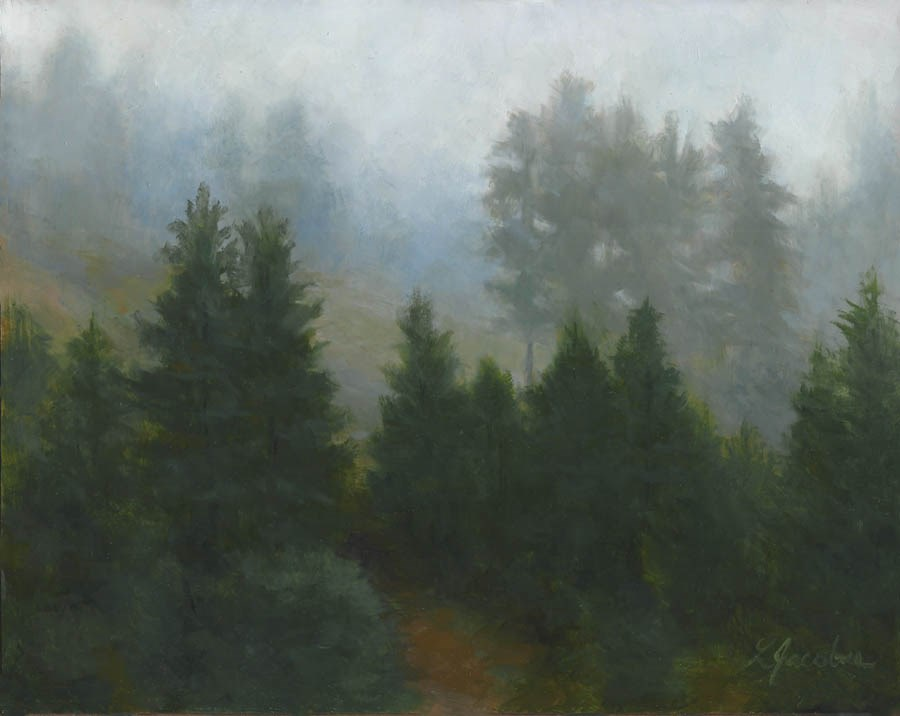 """Mountain Mist"" original fine art by Linda Jacobus"