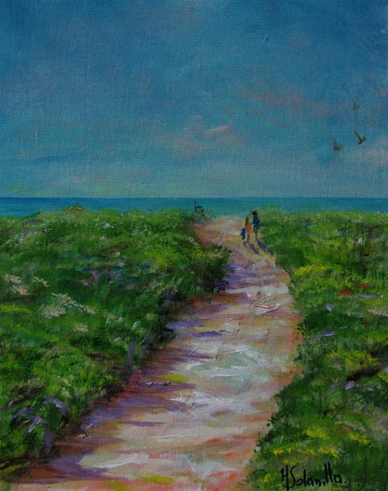 """South Beach,Martha's Vineyard"" original fine art by Monique Solanilla"