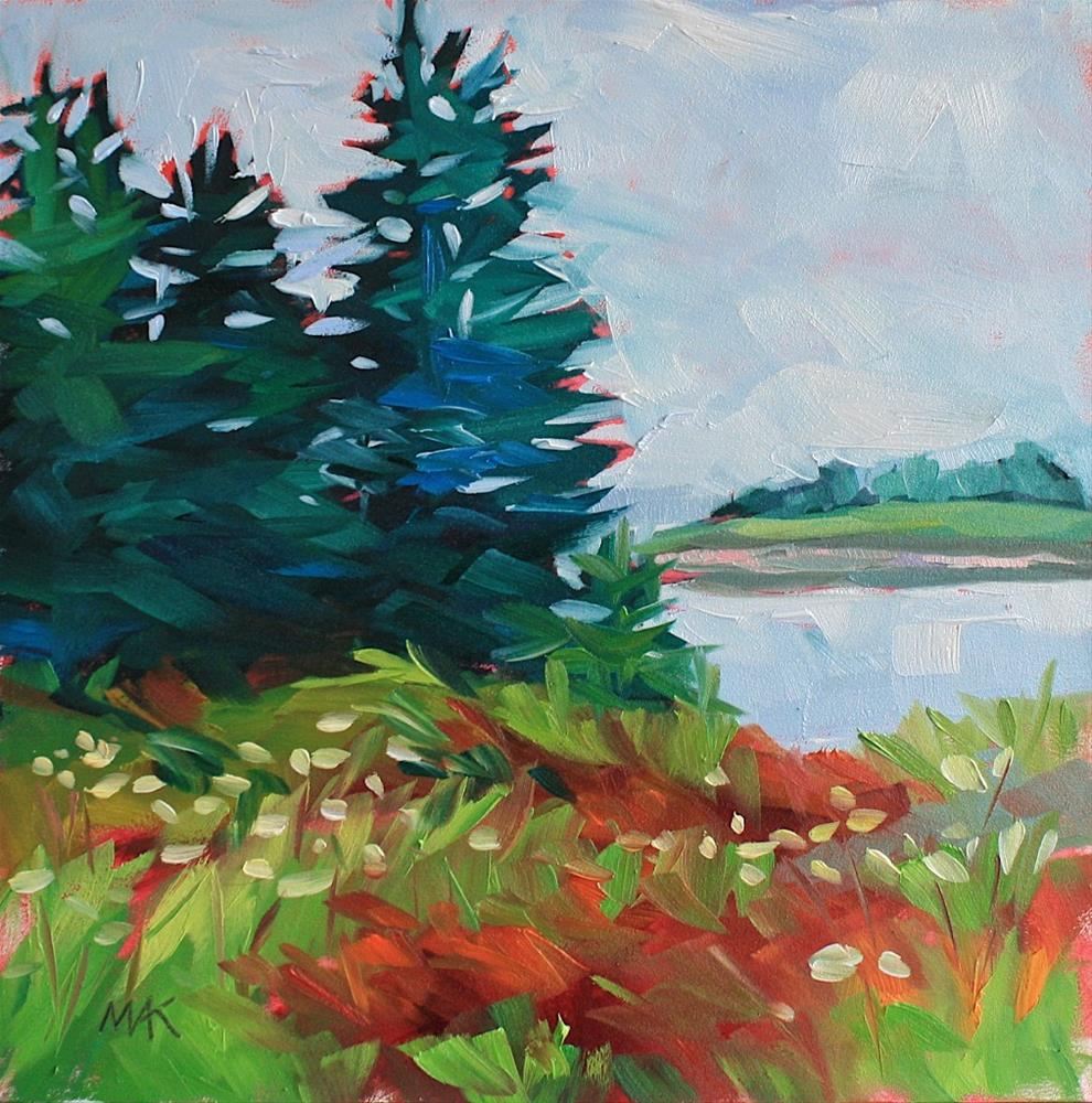 """""""Island Pines"""" original fine art by Mary Anne Cary"""